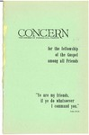 The Concern of Evangelical Friends for the Fellowship of the Gospel Among All Friends, July 1961