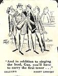 Barbershop Comic by George Fox University Archives