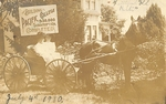 Amanda Woodward and Evangeline Martin in Buggy by George Fox University Archives