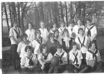 Pacific College and Academy Girls' Basket Ball Squad by George Fox University Archives