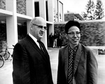 Kenneth Willams, Dean of Students, with Pastor Kim by George Fox University Archives