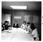Student Council Room in Student Union Building by George Fox University Archives