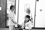 Marie Chapman greets Grandpa Clifton Ross