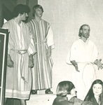 Students act in a performance by George Fox University Archives