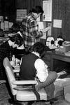 Student Assistants in Development Office by George Fox University Archives