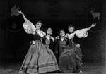 Dance partners pose with arms out by George Fox University Archives