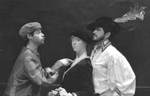 Actor points to female and male actors by George Fox University Archives
