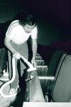 Cleaning new Bauman Auditorium