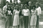 People pose for a group photo by George Fox University Archives