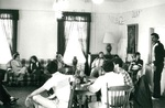 Meeting in Minthorne Lounge before leaving for Seattle by George Fox University Archives
