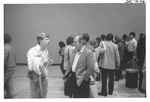 Men Talking to Each Other at an Alumni Reception by George Fox University Archives