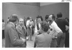Group of People Talking at an Alumni Reception by George Fox University Archives