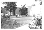 Outside at an Alumni Reception by George Fox University Archives