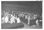 Crowd of People at the Alumni Talent Show in 1983 by George Fox University Archives
