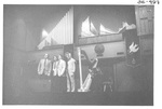 Four Men Performing at the Alumni Talent Show in 1983 by George Fox University Archives