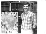 Student with map of Africa