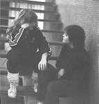 Young women in conversation