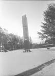 Centennial Tower Covered in Snow