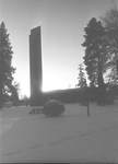 Centennial Tower Covered in Snow by George Fox University Archives