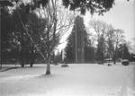 Quad covered in Snow by George Fox University Archives