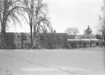 Murdock Learning Resource Center in the Snow by George Fox University Archives