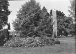 Centennial Tower in the Spring by George Fox University Archives