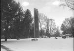 Centennial Tower in the Snow by George Fox University Archives