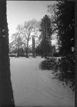 Campus covered in Snow by George Fox University Archives