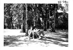 Students Studying under a Tree by George Fox University Archives