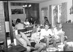 Students Gathered in Home by George Fox University Archives