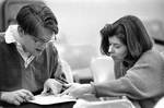 Couple Studying by George Fox University Archives