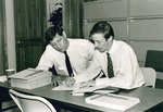 MHR Campaign Meeting: Ray Rotolo, director of planned giving (left) and Troy Costales by George Fox University Archives