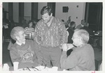 People Talking at the Alumni Luncheon in February 1994 by George Fox University Archives