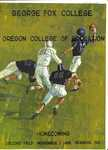 Program, George Fox College vs. Oregon College of Education 1968, part 1 by George Fox University Archives