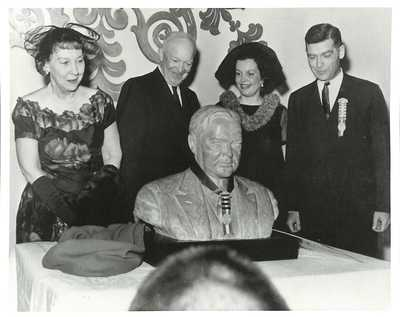 Unveiling of Hoover Bust by President Eisenhower