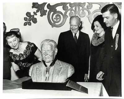Unveiling of Hoover Bust by President Eisenhower, Reactions