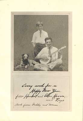 Herbert Jr. and Allan Hoover New Years Card, circa 1930