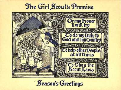 Girl Scouts Promise Greeting Card