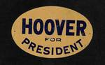 Hoover for President Plaque