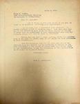 Pennington to Frank Lombar April 1946