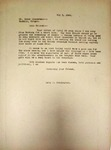 Levi Pennington to Mr. Peter Zimmerman, May 3, 1946