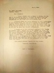 Levi Pennington Writing to Peter Zimmerman, May 6, 1946