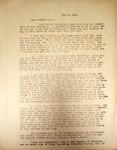Levi Pennington Writing to Bertha May, May 6, 1946