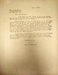 Levi Pennington Writing to Helen Keller, May 7, 1946