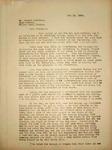 Levi Pennington Writing to Howard Harrison, May 14, 1946