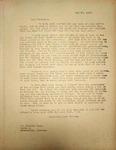 Levi Pennington Writing to Orlando Cook, May 27, 1946