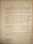 Levi Pennington Responding to Franz Hohn, June 17, 1946