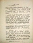 Levi Pennington Writing to Bertha May, June 19, 1946