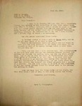 Levi Pennington Writing to Ward Haines, June 25, 1946
