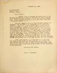Levi Pennington Writing to Dan Harmon, September 23, 1946